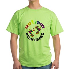 Autism Awareness Circle Green T-Shirt