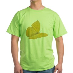 Yellow Butterfly Green T-Shirt