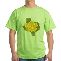 Yellow Rose of Texas Green T-Shirt