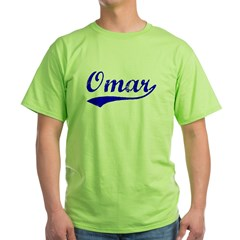 Vintage Omar (Blue) Green T-Shirt