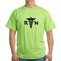 RN Medical Symbol Green T-Shirt