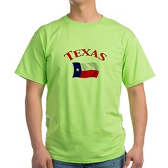 Texas State Flag Green T-Shirt
