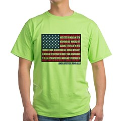 PLEDGE OF ALLEGIANCE FLAG Green T-Shirt