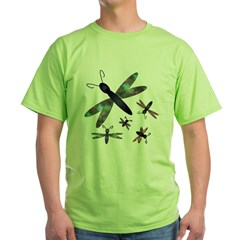Dragonflies.png Green T-Shirt