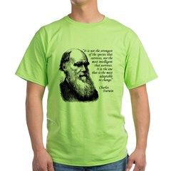 Darwin on Survival Green T-Shirt