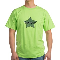 Enrique (blue star) Green T-Shirt