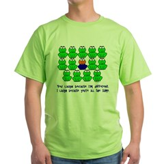 Being Different FROGS 3 Green T-Shirt