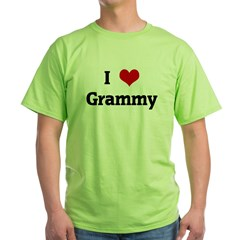 I Love Grammy Green T-Shirt
