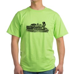 Locomotive (Black) Green T-Shirt