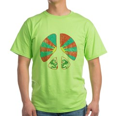 Free Tibet Peace Sign Green T-Shirt
