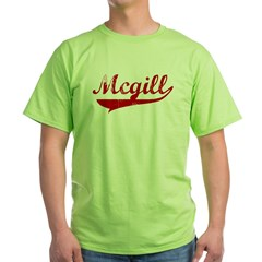 Mcgill (red vintage) Green T-Shirt
