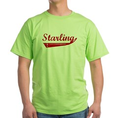 Starling (red vintage) Green T-Shirt