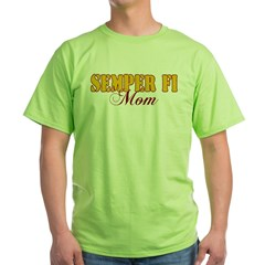Semper Fi Mom Green T-Shirt