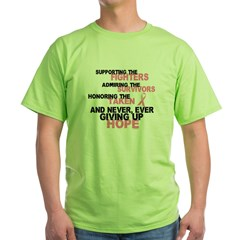 Fighters Survivors Taken 3 Pink Green T-Shirt