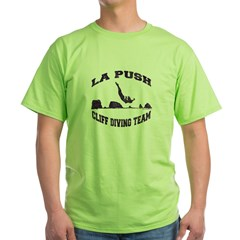 La Push Cliff Diving Team TM Green T-Shirt