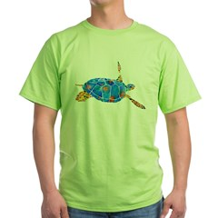 Sea Turtle 2 Green T-Shirt