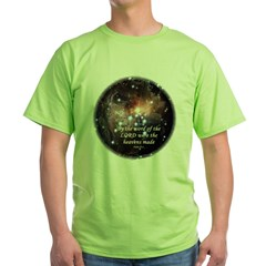 Psalm 33:6 Green T-Shirt