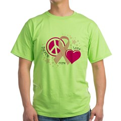 BC Peace Love Cure Green T-Shirt