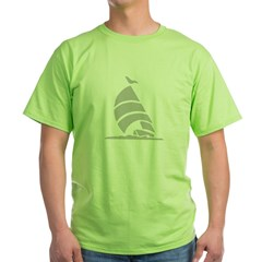 Sailboat Silhouette Green T-Shirt