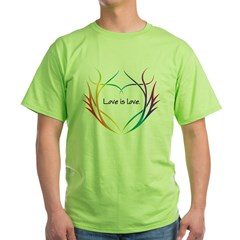 Tribal (Heart) - Light Tee Shirts Green T-Shirt