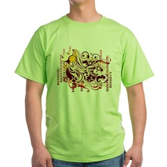 music girl Green T-Shirt