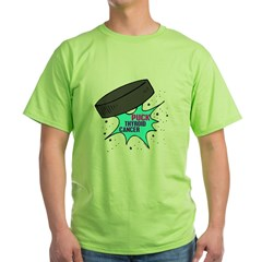 """PUCK"" Thyroid Cancer 1 Green T-Shirt"