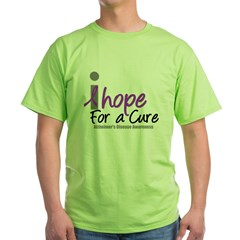 Alzheimer's Hope Green T-Shirt