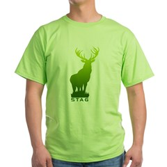 DEER STAG GRAPHIC Green T-Shirt