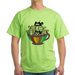 TS_6-cats-coffee-mug Green T-Shirt