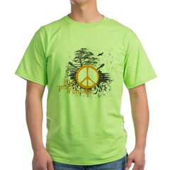 give_peace_scene_orange_dark Green T-Shirt