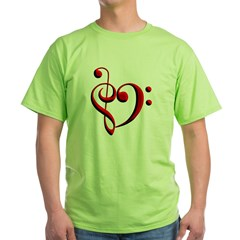 Clef Hear Green T-Shirt