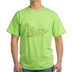 BEER_CHEAPER_THAN_GAS-dark Green T-Shirt
