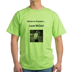 Lucas McCain for President.jpg Green T-Shirt