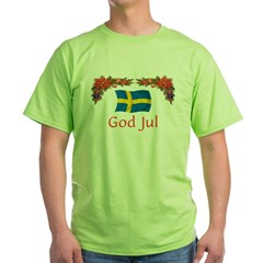 Sweden God Jul 2 Green T-Shirt