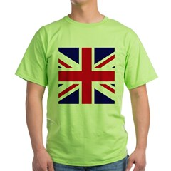 British Flag Union Jack Green T-Shirt