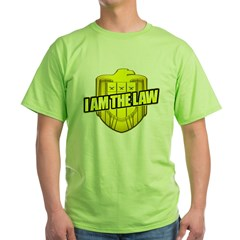 I AM THE LAW: Judge Dredd Green T-Shirt