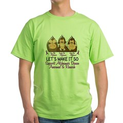 See Speak Hear No Alzheimers 2 Green T-Shirt