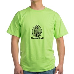 Rhinos Rock! Green T-Shirt
