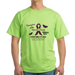 Alzheimers Awareness Month 2.2 Green T-Shirt