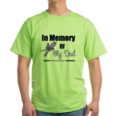 Alzheimer's Memory Dad Green T-Shirt