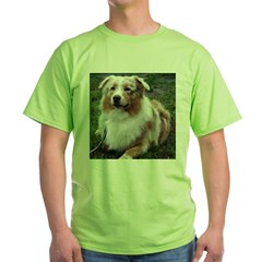 Red Merle Aussie Green T-Shirt