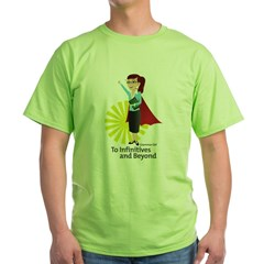 Grammar Girl To Infinitives Green T-Shirt