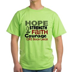 HOPE Brain Cancer 3 Green T-Shirt