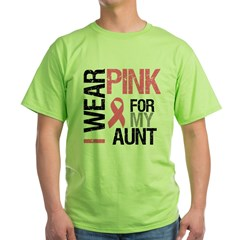 I Wear Pink (Aunt) Green T-Shirt