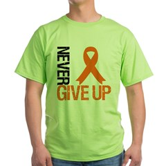 NeverGiveUp OrangeRibbon Green T-Shirt