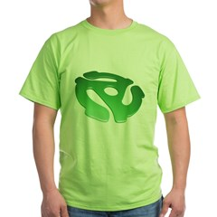 green-3d-45-rpm-adapter-dk Green T-Shirt