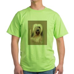 Tibetan Terrier Green T-Shirt