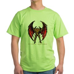 Mothman Sketch-Brown Green T-Shirt