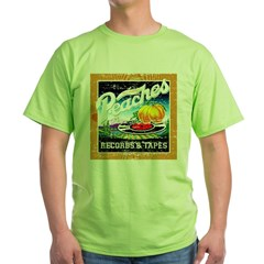 Peaches Records & Tapes Distr Green T-Shirt