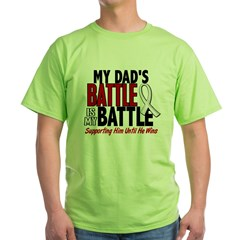 My Battle Too 1 PEARL WHITE (Dad) Green T-Shirt